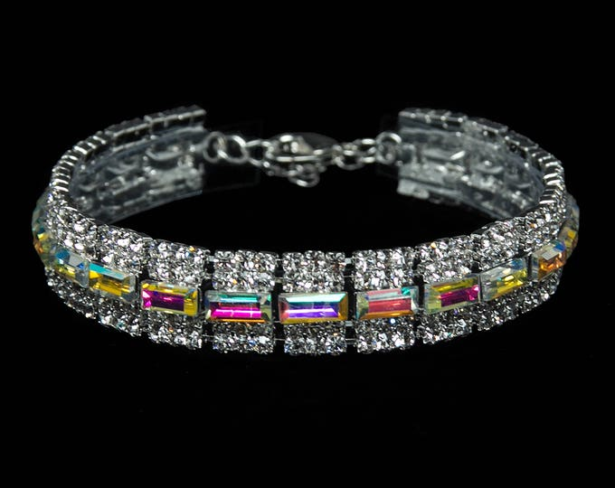 Emmy AB Crystal Competition Bracelet for IFBB and NPC Bikini Fitness Bodybuilding Contests