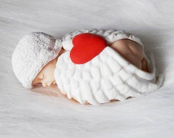 Baby angel wing, heart and miniature Hat Fimo to customize