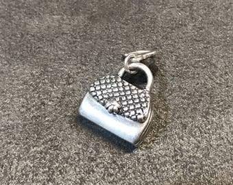 Vintage Kabana Sterling silver handmade pendant, solid 925 silver handbag charm, stamped 925 KBN