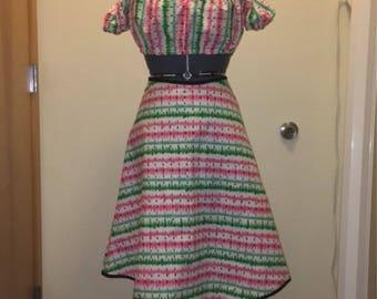 50's Watermelon High Waisted Skirt