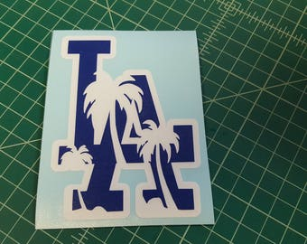 Los Angeles palms decal