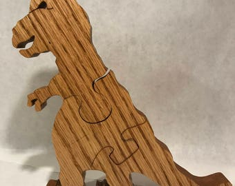 Wooden T-Rex Jigsaw Puzzle