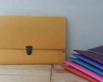 Recycled - soft yellow recycled linoleum Tablet case