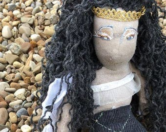 Gray Mermaid Princess doll