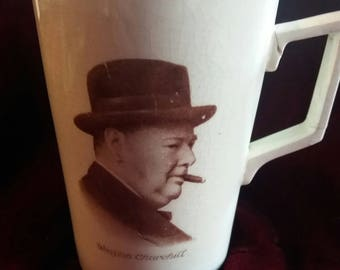 Winston Churchill commemorative cup mug from the 60s