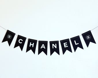Black Banner. Party Decorations