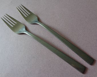 Marshall Fields CMS stainless Flatware, 2 Dinner Forks modern design fork flat tip made in Germany