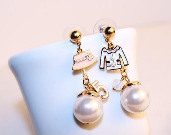 Vintage charm drop earrings