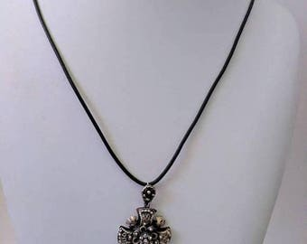 ON SALE Vintage Necklace with Sterling Silver Pendant