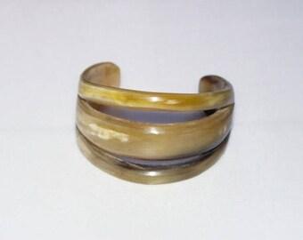 Openwork Horn Cuff Bracelet