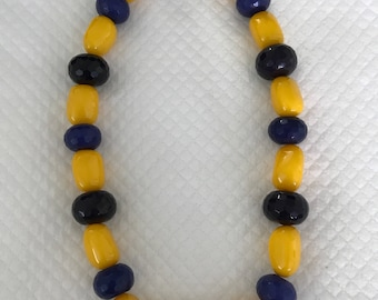 Yellow and purple necklace. Summer and impressive!