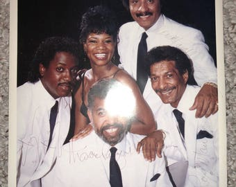 Vintage The Platters 8x10 autographed glossy photo photograph
