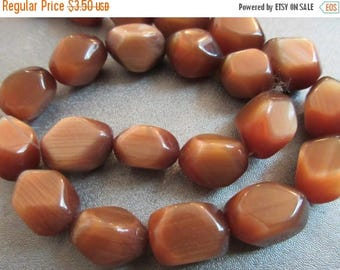 ON SALE 15% OFF Brown Cat's Eye Nuggets Beads 22pcs