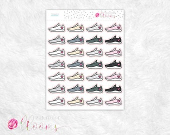 Planner Stickers - Tennis Shoes, Fitness, Running, Steps, Neutral