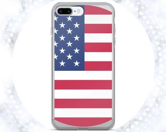 American Flag iPhone Case | USA Phone Case | Clear iPhone Case | 4th of July | Patriotism | iPhone 7 | Clear iPhone 6 Case