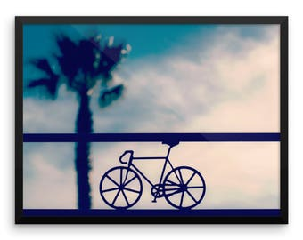Road Bike Photography Print | Wall Art | Beach | Palm Tree | Cycling Poster | Illustration | Road Bicycle | Summer | Photo Print | Hobbies