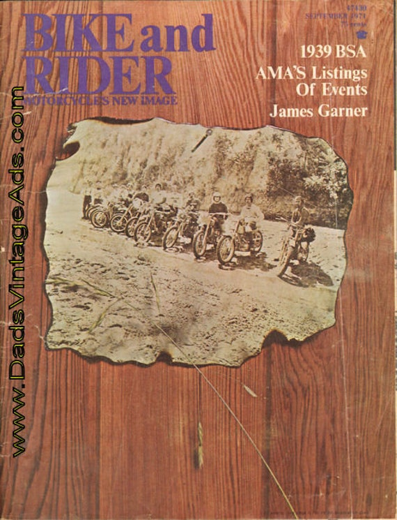 1971 September Bike and Rider Motorcycle Magazine Back-Issue #mb320