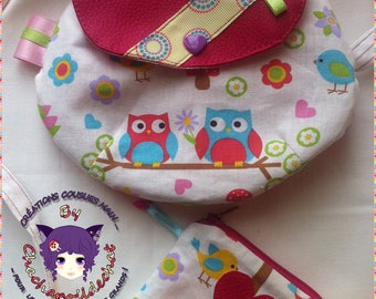 Shoulder bag girl and matching coin purse * on order - fabric choices *.
