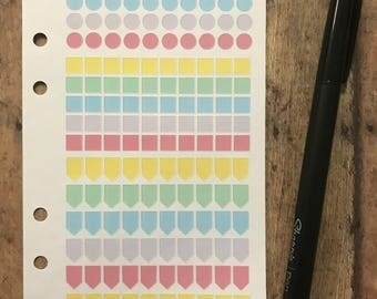 Filofax Planner stickers, Franklin Covey, Gillio, Day Planner stickers for inserts