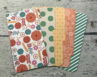 PERSONAL Sized Floral Dashboard and Dividers - Filofax, Kikki K, Day Planner, Franklin Covey, Gillio, Etc