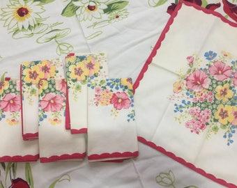 Set of 6 vintage napkins