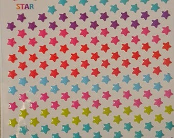 Mini Star Stickers/ Funny Stickers/ Korean Sticker Sheet/ planner and scrapbooking, very small stickers