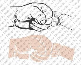 Adult Child Fist Bump SVG