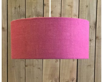 Pink Hessian Drum Light Shade Lamp Shade 20cm 25cm 30cm 35cm 40cm 45cm 50cm 60cm 70cm