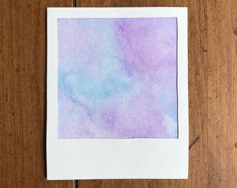No. 2 - WIDE WORLD Series (Homemade Watercolor Polaroid)