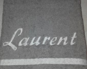 TOWEL embroidered 50x70cm name