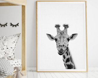 Giraffe Print, Giraffe Wall Art, Safari Animal, Safari Animal Print, Nursery Decor, Nursery Print, Nursery Printable, Nursery Animals