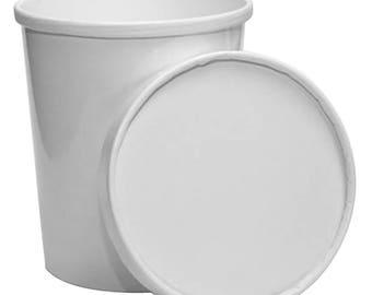 Quart 32 oz Premium Ice Cream To Go Containers and Lids