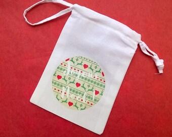 Mini bag fabric Christmas Scandinavian pattern