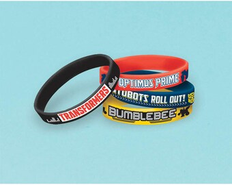 Transformers Bracelet Favors [4ct] Birthday Party Supplies Rewards Prizes Loot