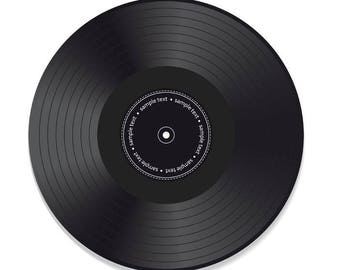"10"" Custom Vinyl Record Black"