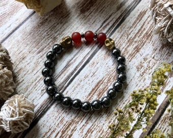 Lava Stone Bracelet, Diffuser Bracelet Set, Stackable Bracelet Set, Essntial Oil Diffuser, Diffuser Jewelry, Yoga Jewelry, Hematite Skulls