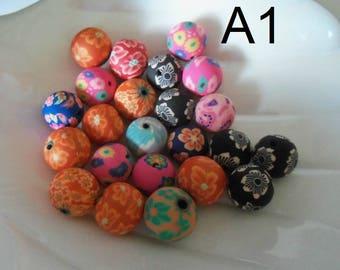 10 mm Polymer Clay Bead Assortment (1328)