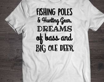 deer hunting shirt, white, hunting shirt, tshirt