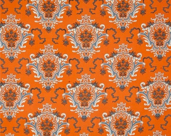 SALE Verna Mosquera Candelabra Eeire Toile in Orange Fabric - Halloween Fabric by the Yard - Orange and Black