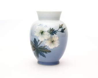 Royal Copenhagen Blue and White Porcelain Vase
