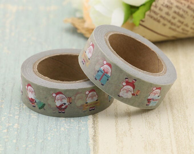 Washi Tape - Christmas Washi Tape - Santa washi Tape - Paper Tape - Planner Washi Tape - Washi - Decorative Tape - Deco Paper Tape