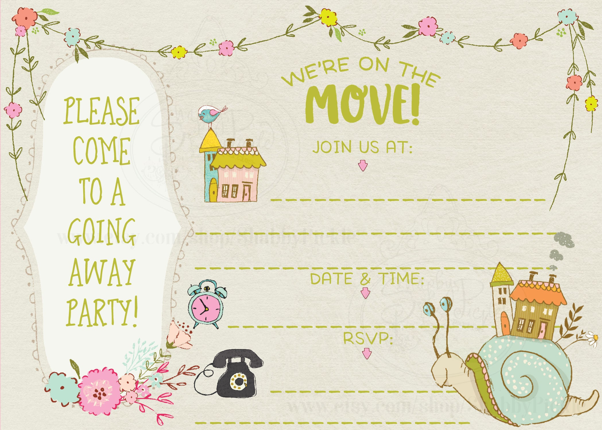 On The Move-Fill In The Blanks-Going Away Party Invitations-Leaving ...