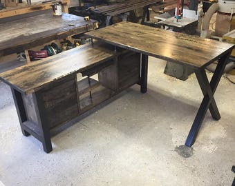 Executive Desk / Modern Industrial Rustic / Standing Height