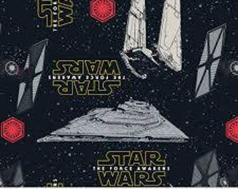 "Star Wars the force awakens fabric, By the Half Yard, 44"" wide, cotton"