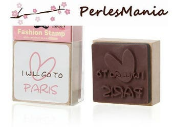 "1 pad ""I WILL GO TO PARIS"" (S118956) 6.3 by 4.8 cm"