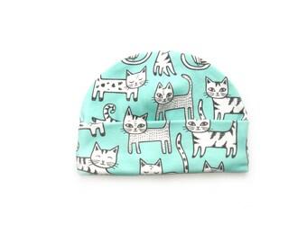 Cats Organic baby clothes baby hat boys hats baby hat organic cotton organic baby clothes beanie toddler hats newborn hat newborn hats