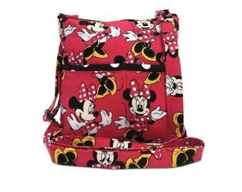 20% OFF SALE Minnie Mouse Crossbody Bag // Sling Bag // Crossbody Purse // Shoulder Bag // Hipster