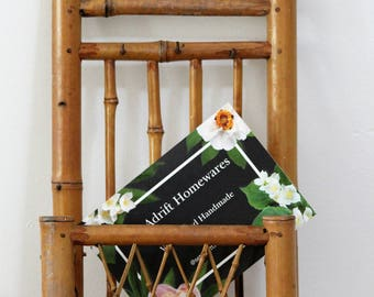 Vintage Wall mountable letter holder bamboo
