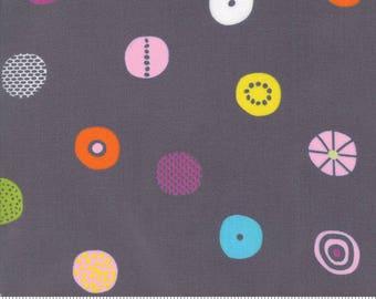 "Moda ""Hey Dot"" by Zen Chic ~ CANDY ~ 1602 16 Grey ~ Half Yard Increments"