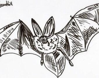 Inktober #13 2017 - Bat [PRINT]